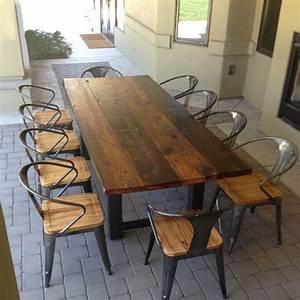 Table Bois Et Fer : tables en bois american vintage en fer forg tables et ~ Premium-room.com Idées de Décoration