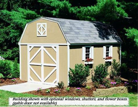 10x14 Shed Plans With Loft by 10x14 Storage Shed Hartford Heritage Gambrel Sheds