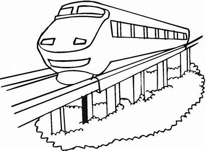 Metro Colorear Dibujos Monorail Imagen Imagenes Transportes