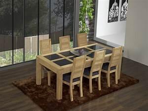 Table Bois Massif Contemporaine : table contemporaine chene massif ~ Teatrodelosmanantiales.com Idées de Décoration