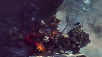 hd wallpaper world  warcraft snowfall