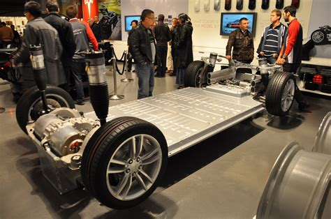 tesla model  lithium ion battery pack  rolling chassis