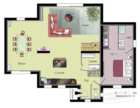 plan de maison moderne plain pied 4 chambres maison moderne et écologique dé du plan de maison