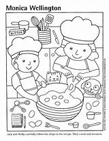 Coloring Pizza Cooking Pages Kitchen Printable Sheets Clipart Cook Preschool Google Popular Story sketch template