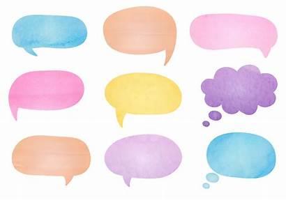 Bubble Speech Bubbles Watercolor Vector Text Box