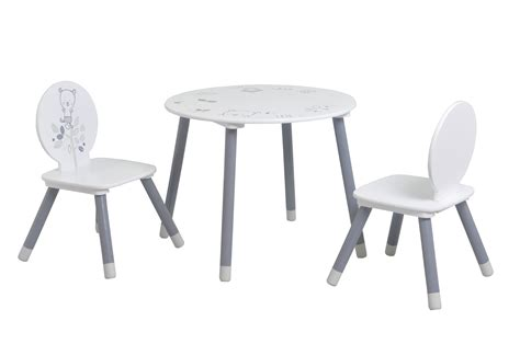chaises de table ensemble table et chaises enfant contemporain blanc gris