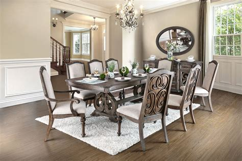 arcadia transitional rustic tone solid wood dining