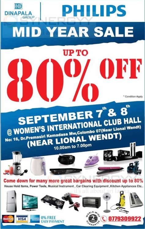 Discount upto 80% at Dinapala midyear Sale on 7th & 8th