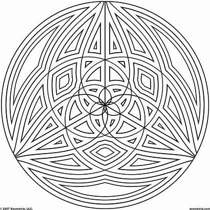 Coloring Geometric Pages Circle Cool Designs Circles