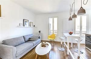 amenager salon cuisine 25m2 4 d233coration appartement With amenager salon cuisine 25m2