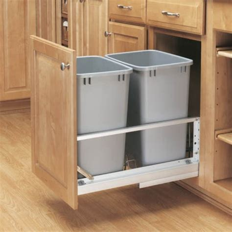 double trash can cabinet pull cabinet double trash can kitchen ideazz pinterest