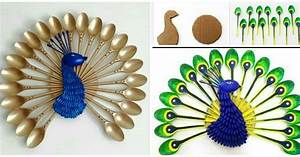 Cómo Hacer Un Pavoreal Decorativo Con Cucharas Paso A Paso