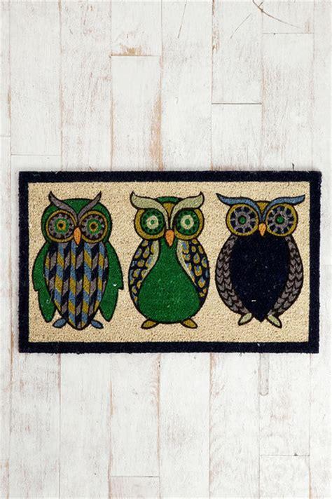 owl welcome mat owl welcome mat eclectic doormats by