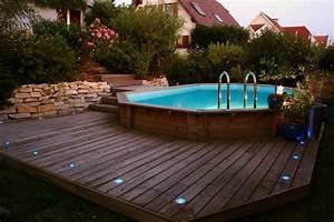 piscine semi creusee bois installer piscine jardinjpg With terrasse en bois pour piscine hors sol 5 piscine 100 bois decouvrez cette nouvelle piscine bois