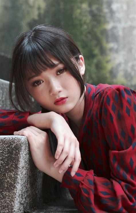 Beautiful Japanese girl innocent looks nice mobile ...