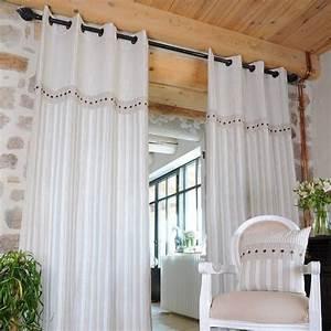 Rideau Dentelle Romantique : rideau 135 x h250 cm alphonsine lin rideau tamisant eminza ~ Teatrodelosmanantiales.com Idées de Décoration