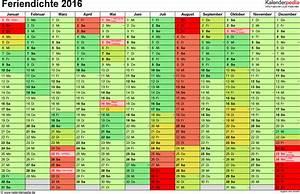 Ferien Nrw 2018 19 : feriendichte 2016 alle schulferien 2016 im kalender ~ Buech-reservation.com Haus und Dekorationen