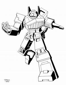 Transformer Shockwave - Free Colouring Pages