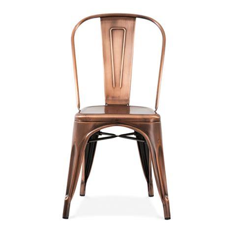 chaise de bar tolix vintage copper side chair cult uk
