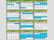 Calendrier scolaire 20122013