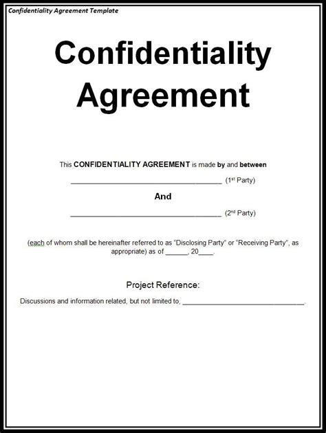 disclosure agreement template  disclosure