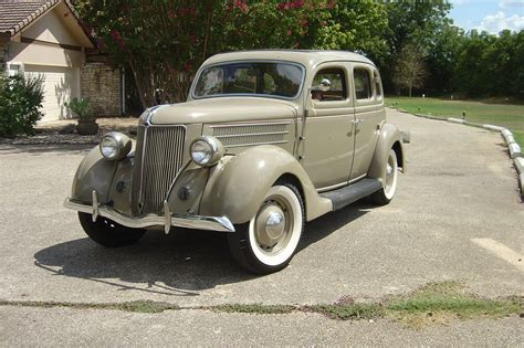 1936 Ford 4-door All Steel Body Tan Sedan, 4 New Tires