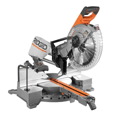home depot ridgid tile saw ridgid r4221 15 12 in dual bevel sliding miter saw