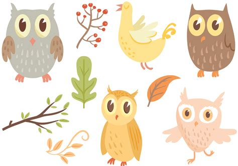 owl vectors   vector art stock