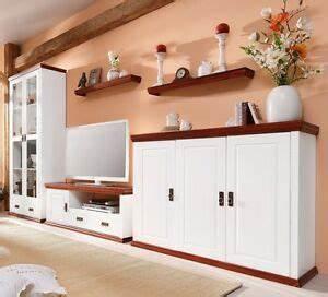 Wohnwand Weiß Holz : wohnwand 5tlg landhausstil tv regal schrank kiefernholz ~ A.2002-acura-tl-radio.info Haus und Dekorationen