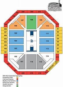 Spectrum Arena Seating Chart Ted Constant Convocation Center Norfolk Virginia Odu