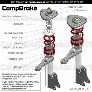 Toyota Mr2 Front Adjustable Suspension Top Mount  Pair