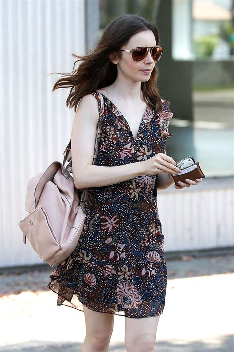 lily collins  mini dress   west hollywood gotceleb