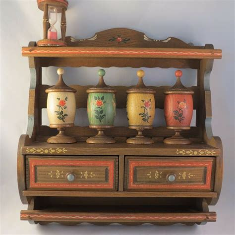 Vintage Spice Rack by Vintage Anri Italy Spice Rack Cabinet W Hour Glass Timer 4