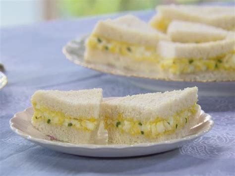 how to make egg salad sandwich mini egg salad sandwiches recipe trisha yearwood food network