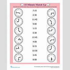 Quarter Hour  Worksheet Educationcom