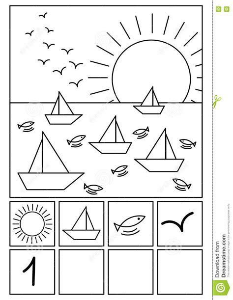 coloring page math stock illustration