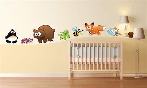 chambre bébé animaux chambre bébé animaux rigolos leostickers