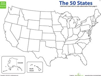 map  states state abbreviations homeschool fun