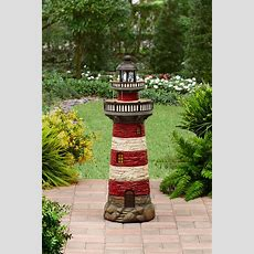 Better Homes And Gardens Lighthouse Fountain With Solar
