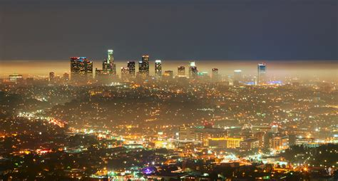 downtown los angeles lights ronald chow flickr