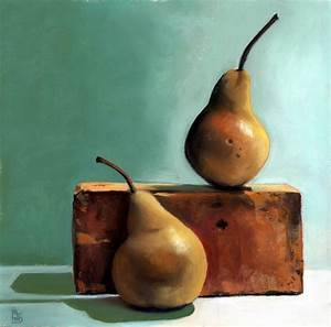 two pears pastel painting ria
