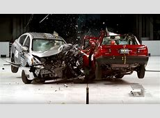 Crash test dummies show the difference between cars in