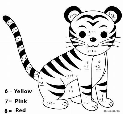 Coloring Math Worksheets Worksheet Addition Pages Colouring