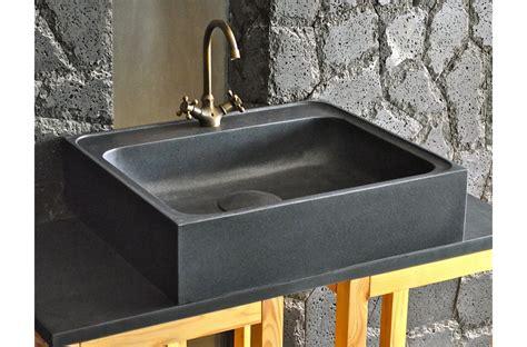 plan de cuisine en granit 70 x 60cm évier de cuisine en granit noir véritable lagos shadow