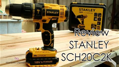 review cordless hammer drill  stanley schck youtube