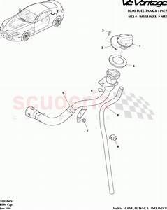Aston Martin V12 Vantage Filler Cap Parts