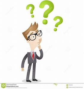 Businessman Looking At Question Marks Stock Vector - Image ...