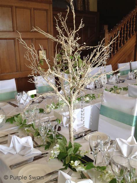 wedding crystal tree hire blossom branch centrepiece