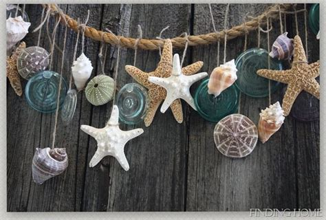 hanging shells decoration 30 rope crafts and decorating ideas for a nautical theme