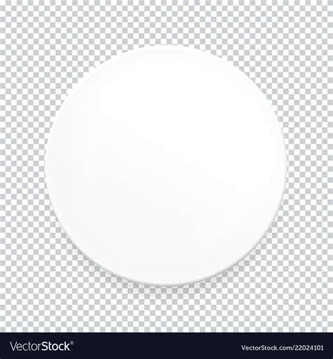 empty white  plate  transparent background vector image